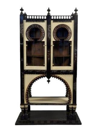 An important & rare Cabinet by Carlo Bugatti (Italy, 1856-1940) ebonized walnut