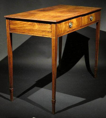 A handsome George III period mahogany writing table/sofa table, English, c1775
