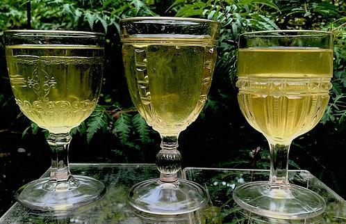 An assortment of three 19thC Trenton, Nova Scotia goblets