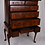 Thumbnail: A Queen Anne figured walnut chest on stand, c1705