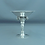 Thumbnail: A sterling silver tazza, grape cluster motif & hammered finish, Georg Jensen