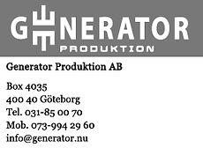 Generator Telt
