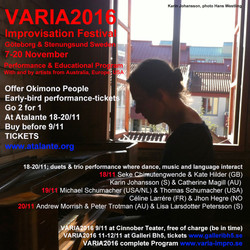 VARIA2016 Early Bird erbjudande via Okimono