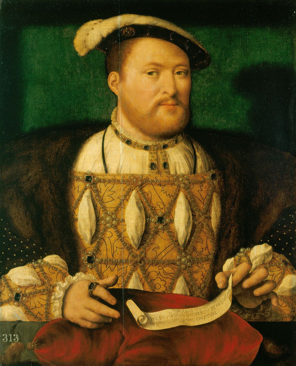 king Henry VIII of England (reigned 1509–1547) (portrait after Hans Holbein the Younger, Royal Collection, Windsor Castle)