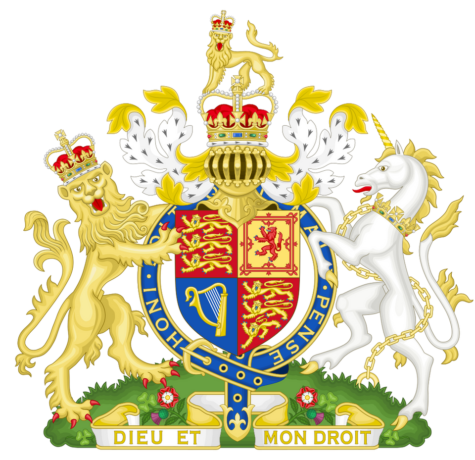 Elizabeth II - Royal Coat of Arms of the United Kingdom of Great Britain & Northern Ireland