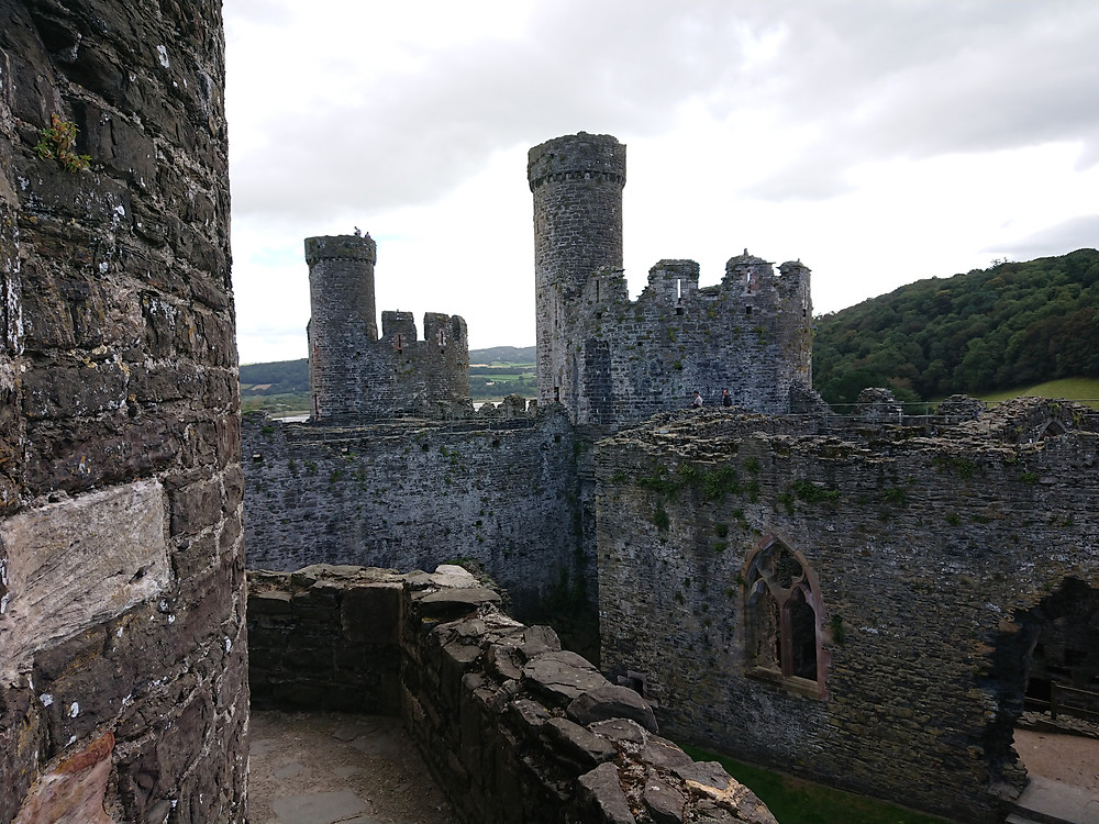 Views of Conwy castle, a medieval castle built by King Edward I of England