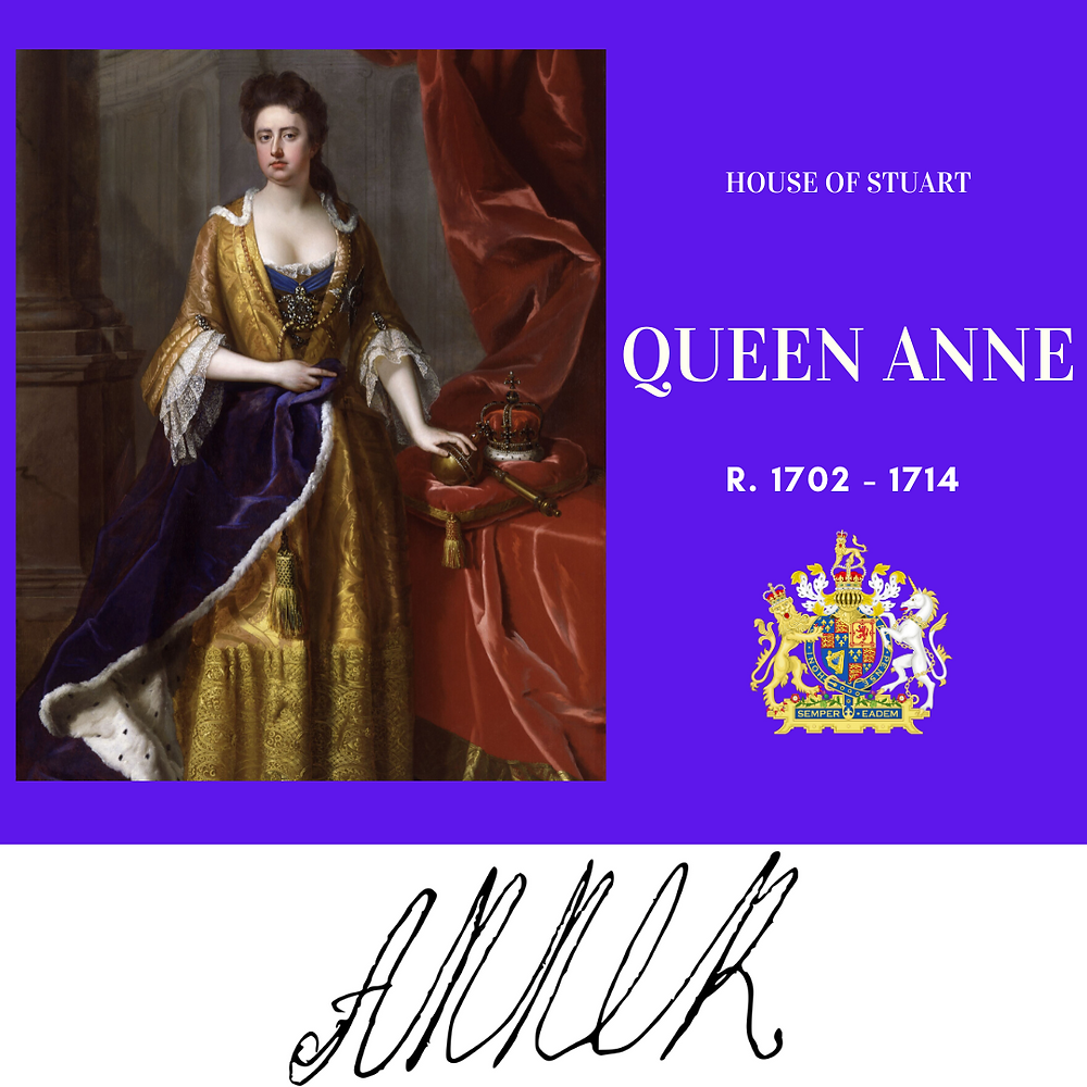 Queen Anne, the last Stuart monarch of Great Britain