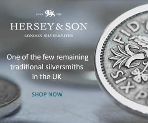 Hersey & Son London silversmiths - online store link banner. Traditional UK silversmiths