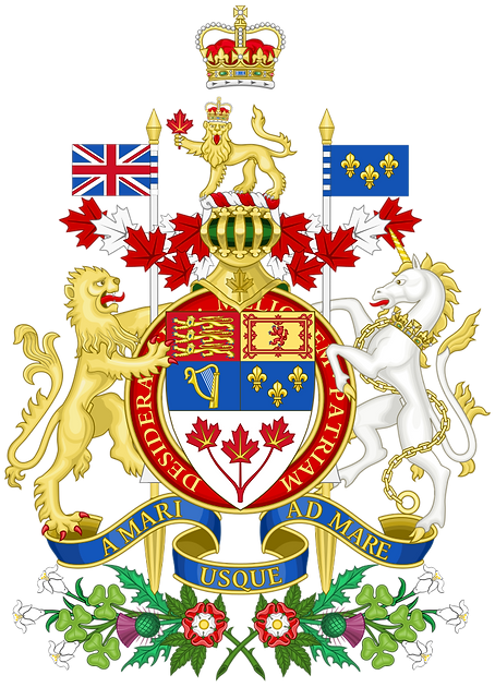 Royal Coat of arms used in Canada