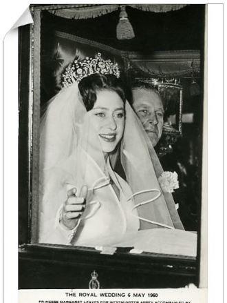 Princess Margaret royal wedding omage at Media storehouse