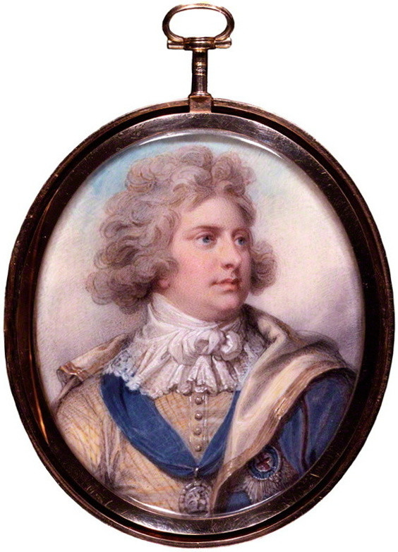 George IV, king of Great Britain, Miniature by Richard Cosway, 1792
