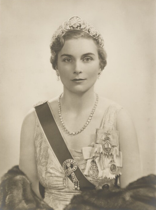 Portrait of Princess Alice, Duchess of Gloucester (1901-2004), Wife of Prince Henry, Duke of Gloucester; daughter of 7th Duke of Buccleuch and 9th Duke of Queensberry