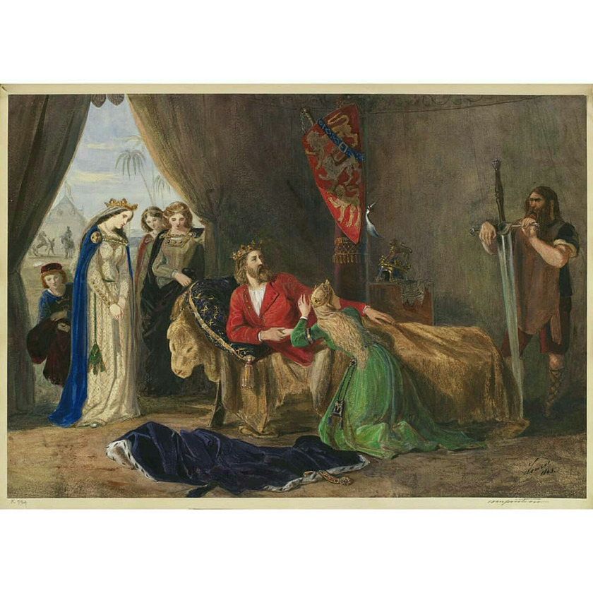 'A medieval scene in a tent' Xmas 1863