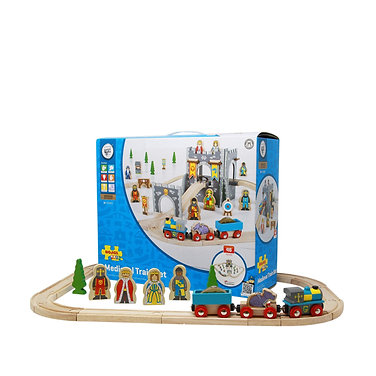 Wooden Medieval Train Set - by English Heritage