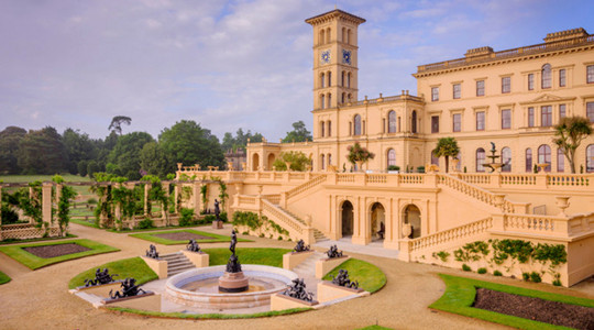 Osborne House on the Isle of Wight, former home of Queen Victoria, in the care of English Heritage