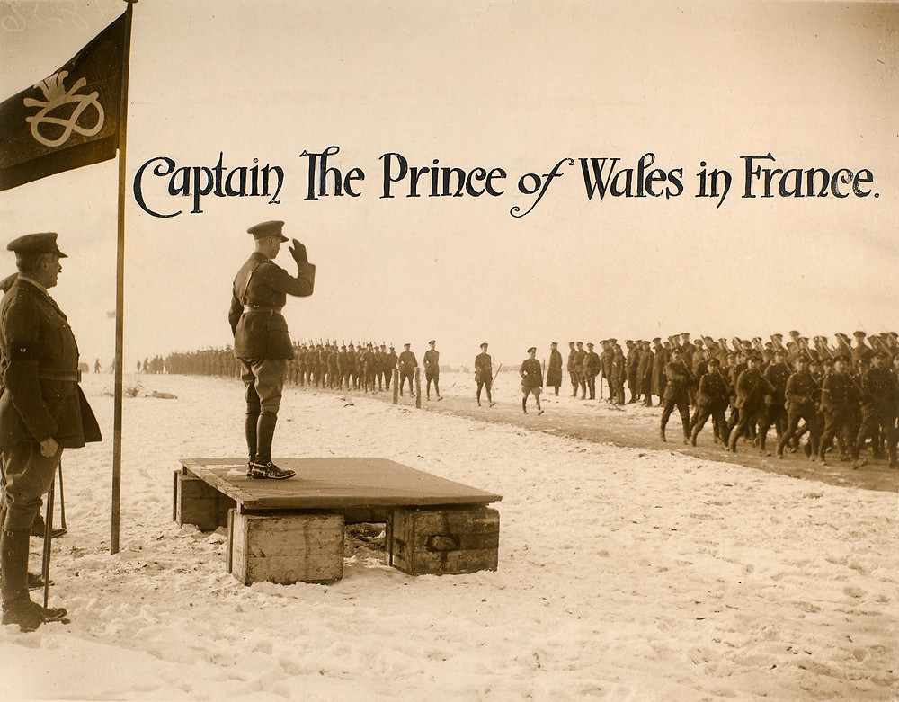 """Captain The Prince of Wales in France""; Edward, Prince of Wales (1894-1972) in France c. 1915"