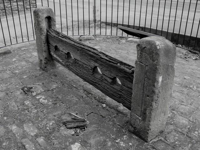 medieval village stocks