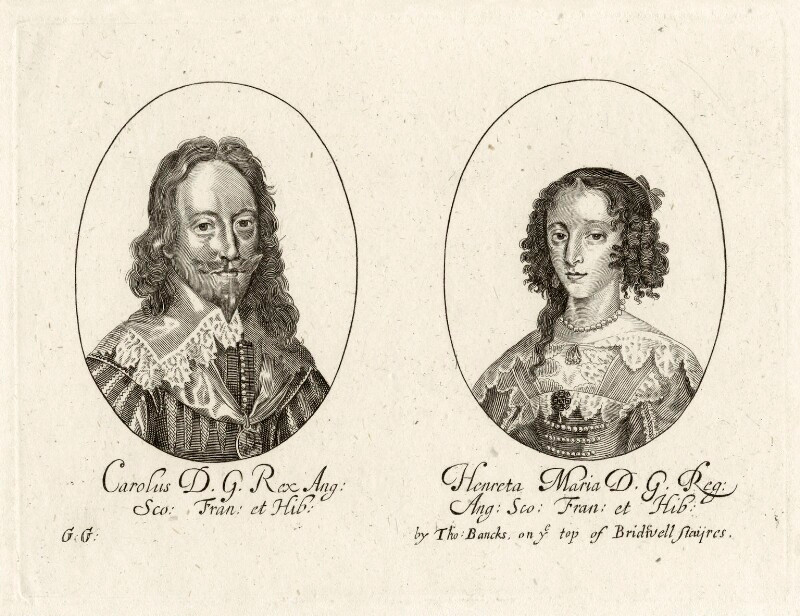 King Charles I & Henrietta Maria  by George Glover. © National Portrait Gallery, London