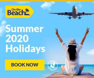 Link banner to On The Beach holidays website