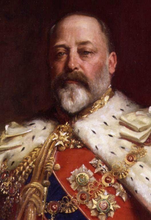 king Edward VII in coronation robes, 1911