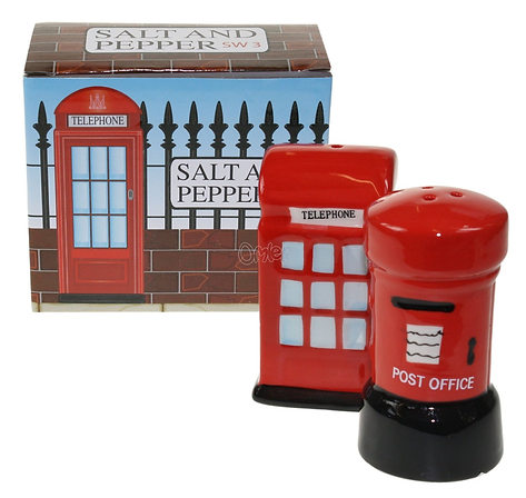 London Salt & Pepper Set, Post & Telephone box