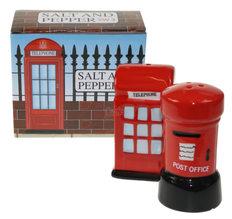 London Salt & Pepper Set, Post & Telephone box