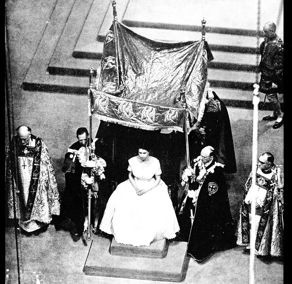 Elizabeth II coronation at Westminster Abbey
