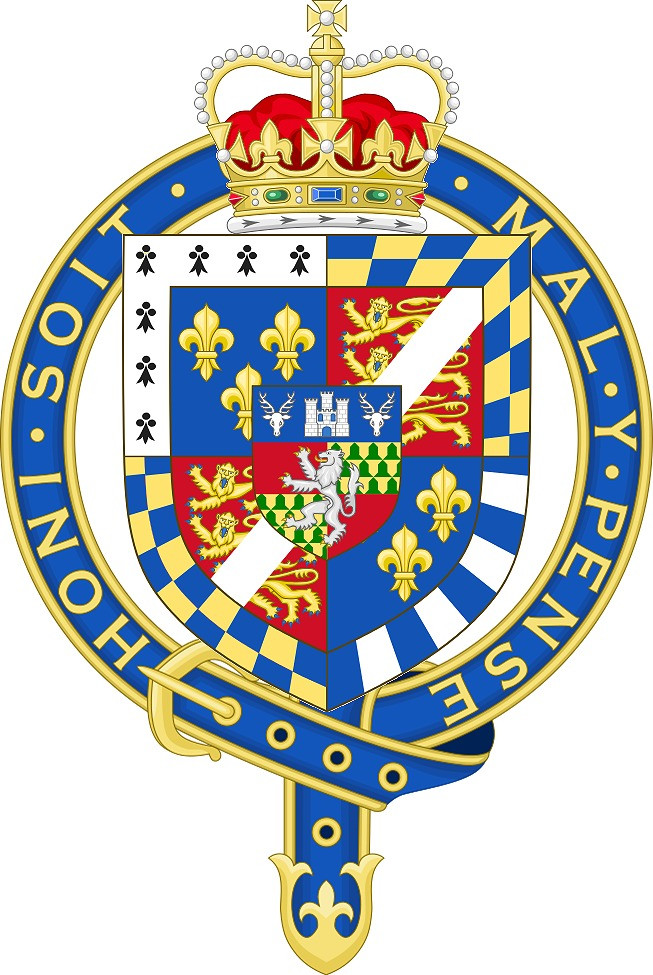 Coat of Arms of Sir Henry Fitzroy, KG, at the time of his installation as a knight of the Most Noble Order of the Garter