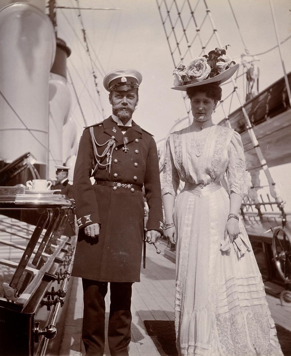 Tsar Nicholas II and Empress Alexandra Feodorovna, Jun 1908. Royal Collection Trust/© Her Majesty Queen Elizabeth II 2019