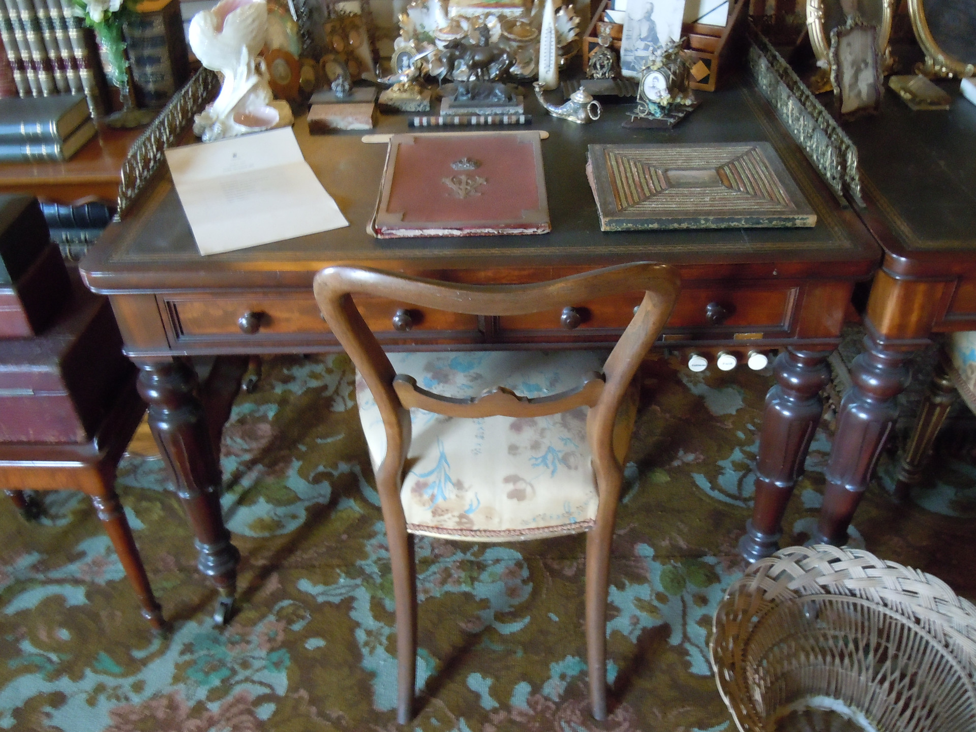 Queen Victoria's writing desk at Osborne House on the Isle of Wight