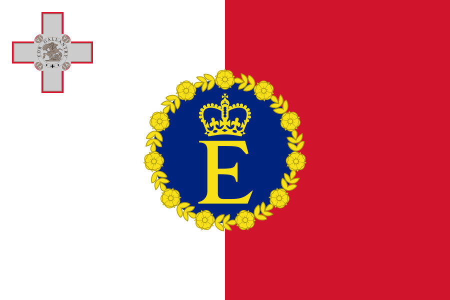 Queen Elizabeth II's Personal Flag for Malta (1967-74)