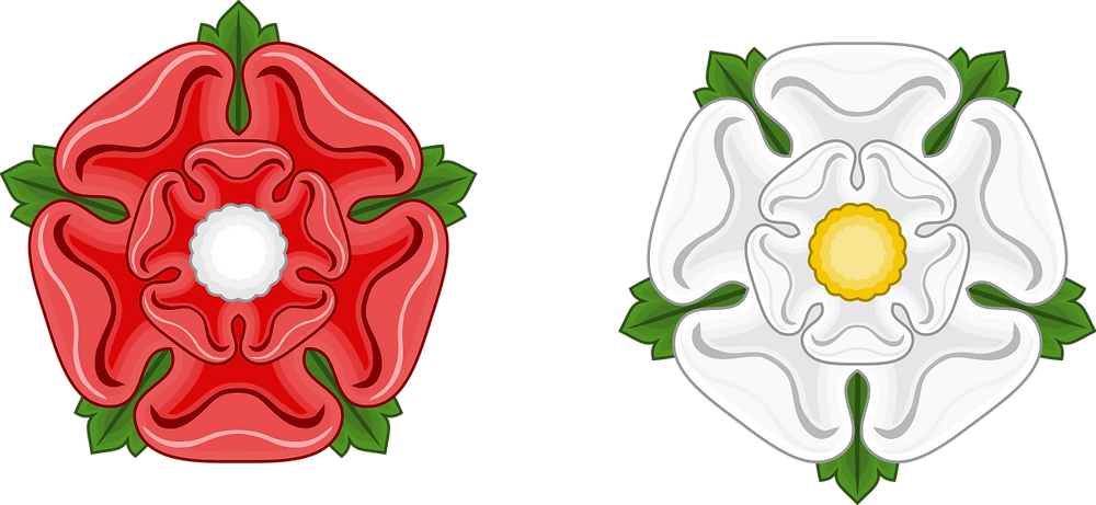 The red rose of Lancaster & white rose of York