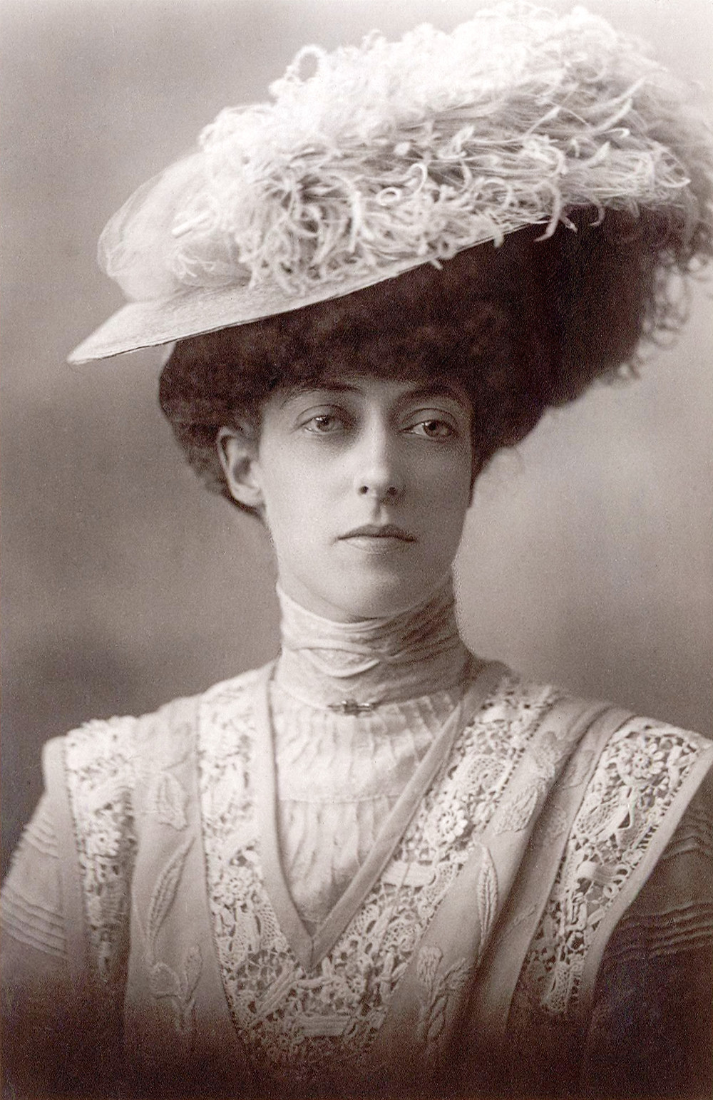 portrait of Princess Victoria of the United Kingdom, daughter of King Edward VII and Queen Alexandra. Royal family history, vintage photo