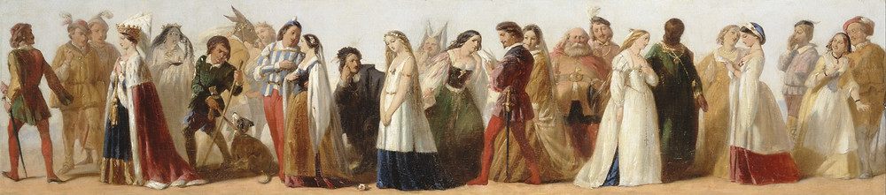 Procession of Characters from William Shakespeare's Plays by an unknown 19th-century artist