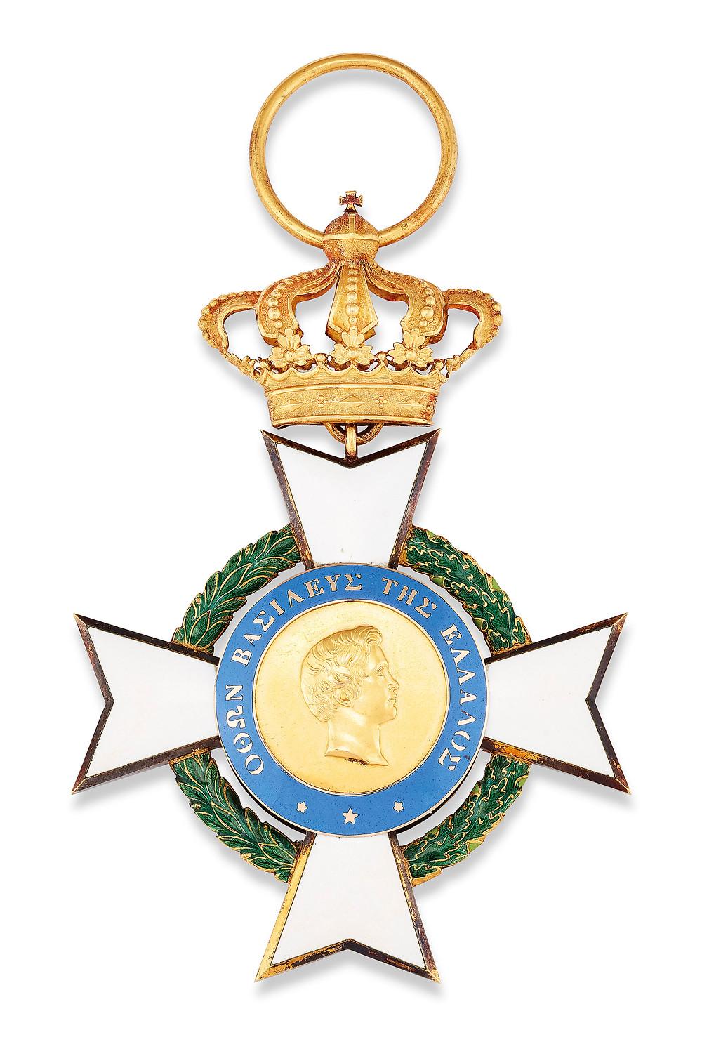 GREECE, ORDER OF THE REDEEMER, BADGE. Maltese cross, greek cross. Royal family, royal collection. British monarchy
