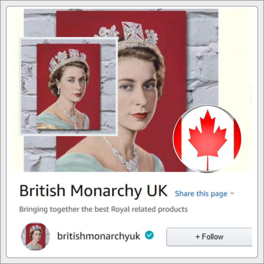 British monarchy Canadian amazon store link banner