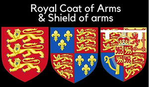 Royal Coat of arms & shield of arms page link