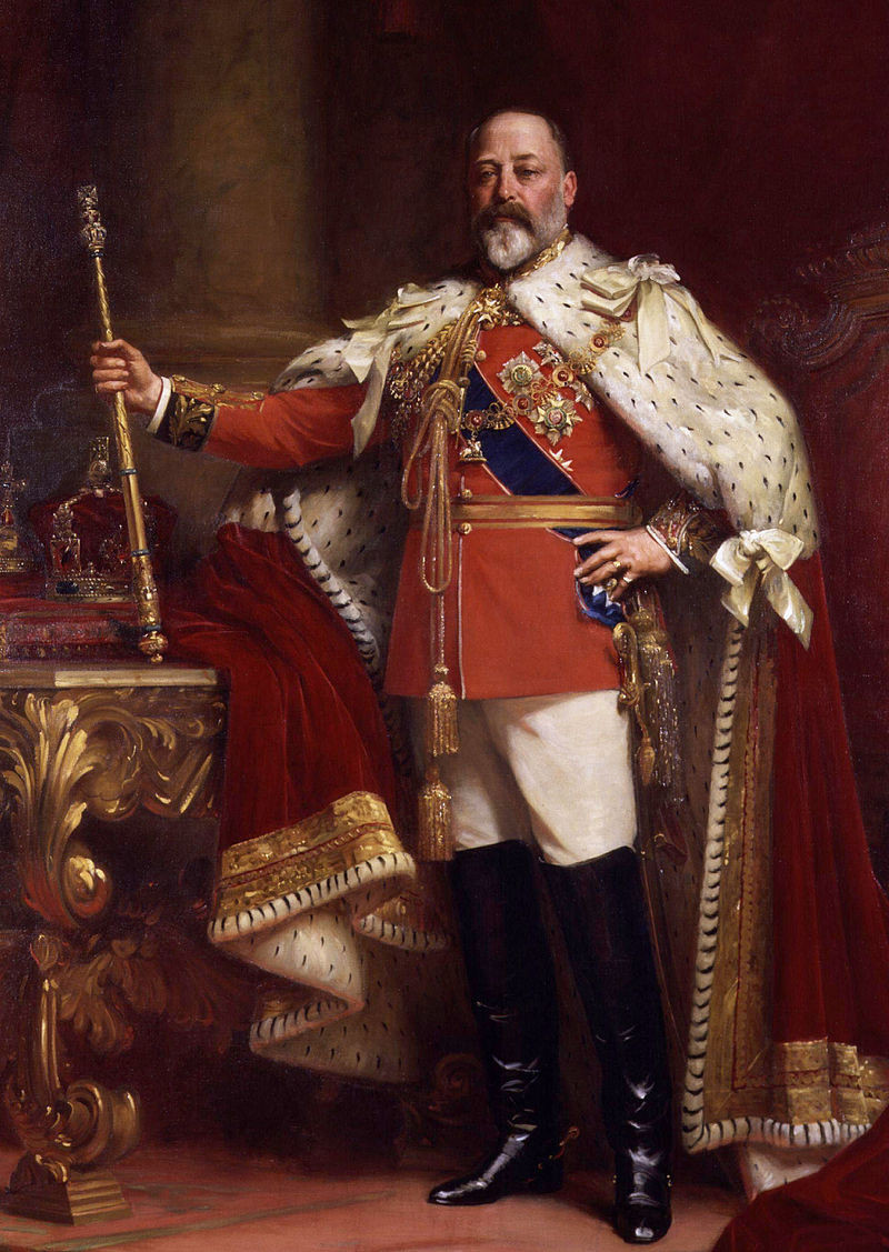 King Edward VII of Great Britain. Reigned as king 1901-1910, the eldest son of Queen Victoria & Prince Albert.
