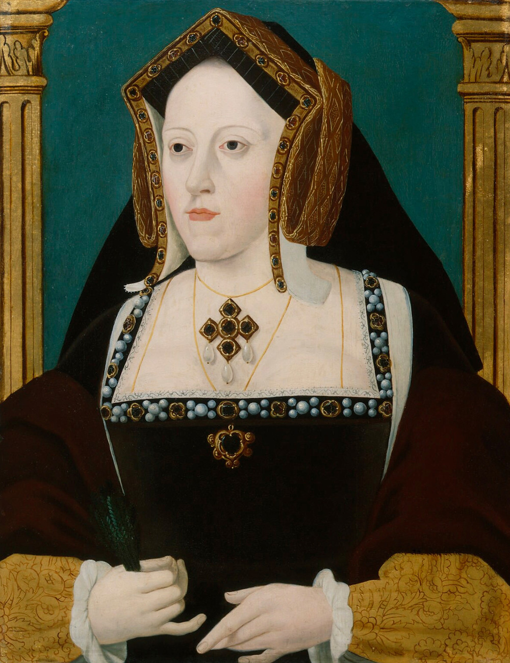 Katharine of Aragon, Queen of England as the first wife of king Henry VIII of England, portrait paintnig
