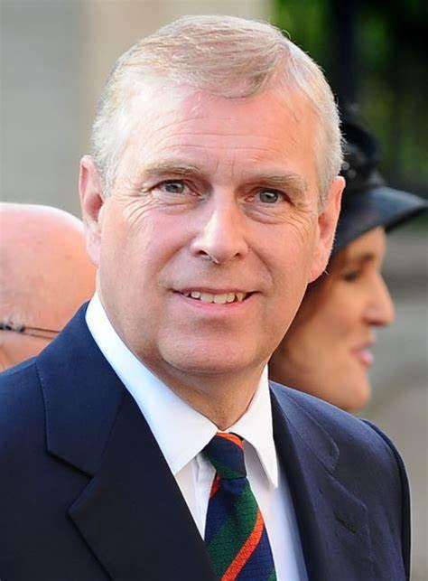 Prince Andrew, Duke of York, son of Queen Elizabeth II