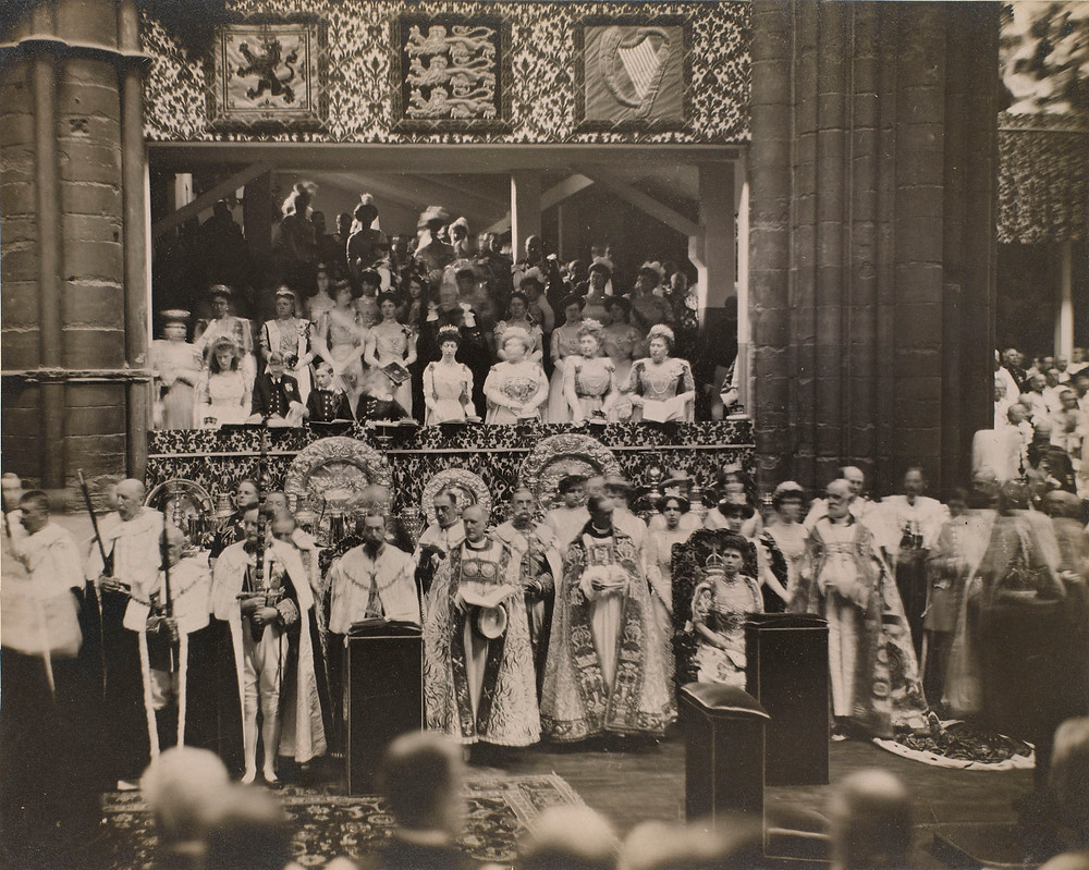 Coronation of King George V (1865-1936) and Queen Mary (1867-1953)