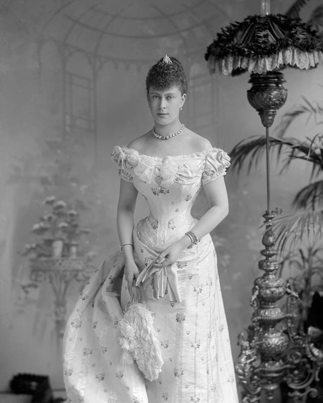Princess Victoria Mary shortly before her marriage to the Duke of York in 1893