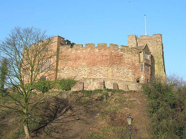 Tamworth Castle, in Tamworth.