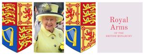 Royal Arms cover - Royal family history.