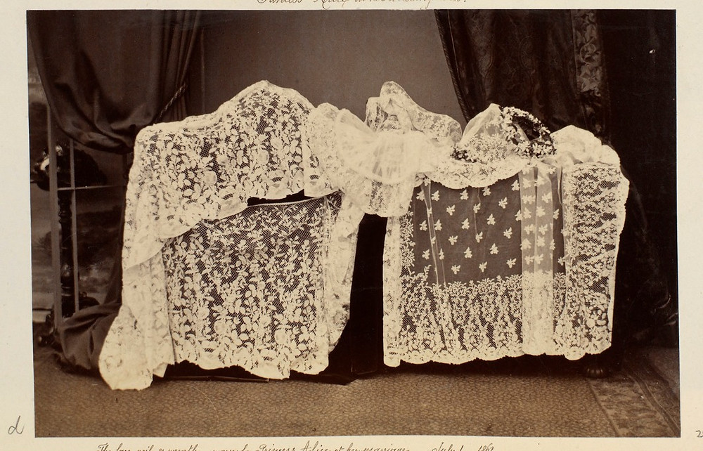 The lace, veil & wreath worn by Princess Alice at her wedding. Royal Collection Trust/© Her Majesty Queen Elizabeth II 2020