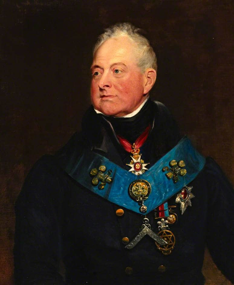 William IV in Masonic insignia. Portrait by James Lonsdale, 1830