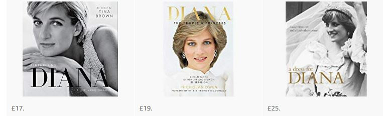 Books of Diana Princess of Wales to buy from Amazon UK