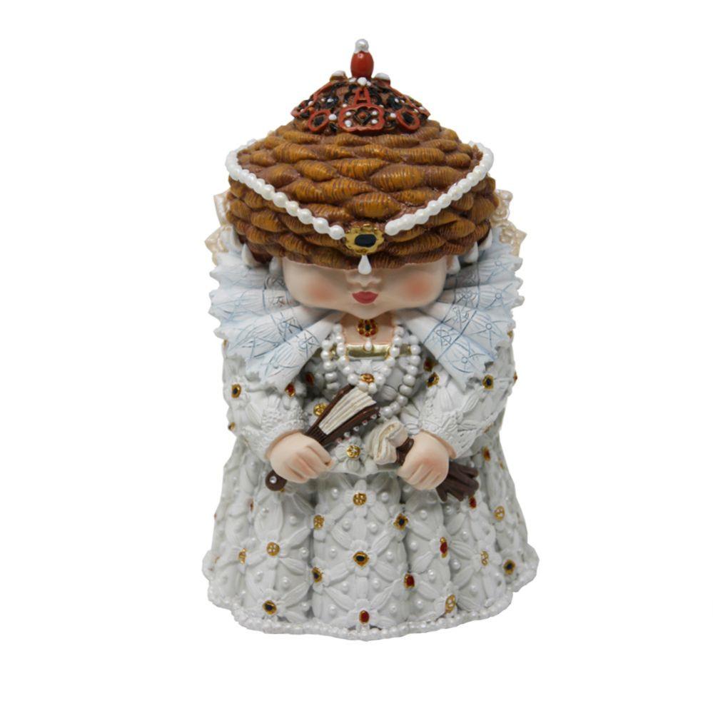 Elizabeth I mini me model at the English Heritage Shop
