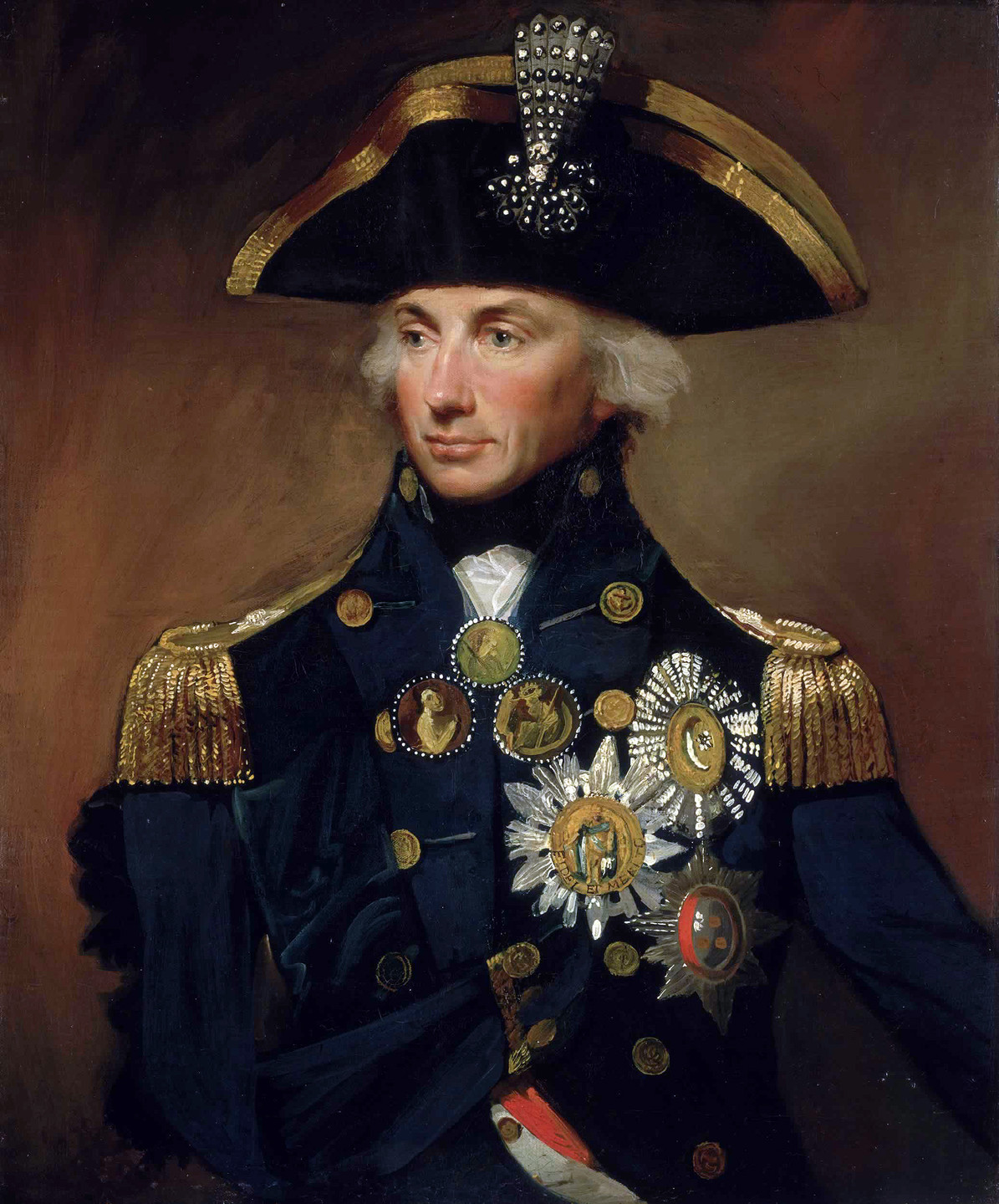 Horatio Nelson, 1st Viscount Nelson. Nelson's death at Trafalgar secured his position as one of Britain's most heroic figures