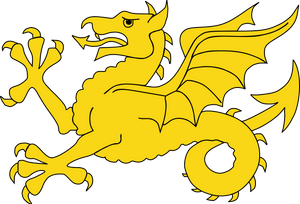 Flag of Wessex, the Wyvern or Dragon symbol